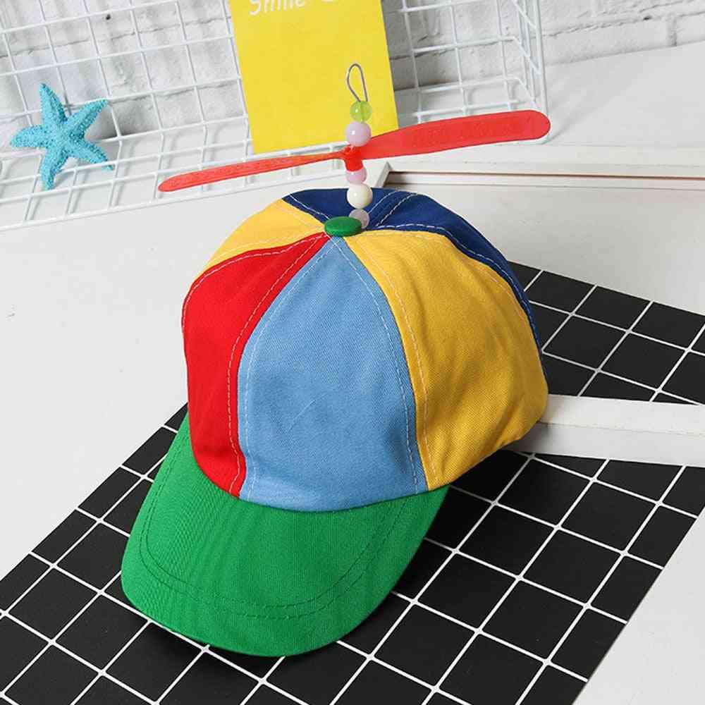 Helicopter Rainbow Tweedle Pride Party Hat