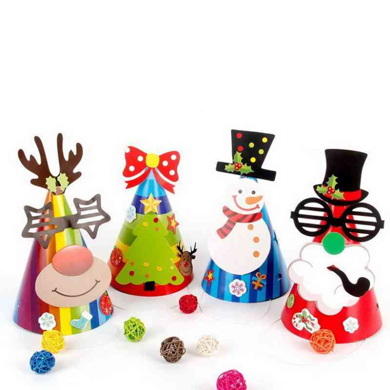 Kids Paper Decorative Diy Christmas Birthday Party Play Hats
