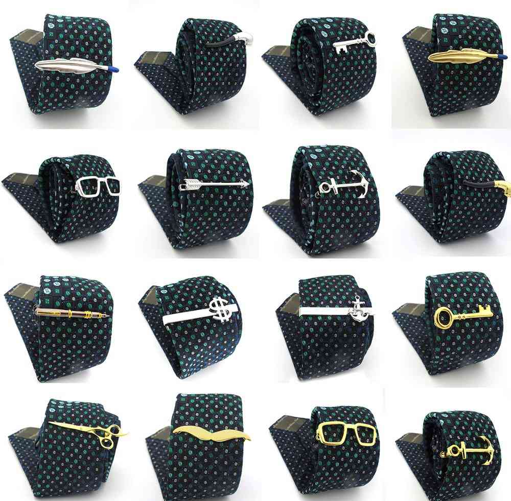 Superheroes Style Anchor Design Tie Pins