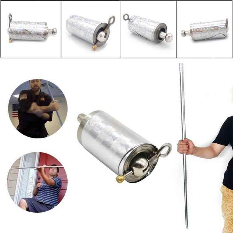 Stainless Steel- Pocket Self-defense, Telescopic Stick, Metal Extension