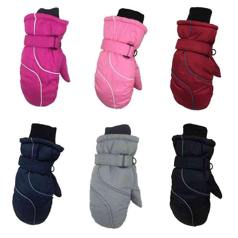 Winter Warm Thickened Warm Splicing Ski Gloves