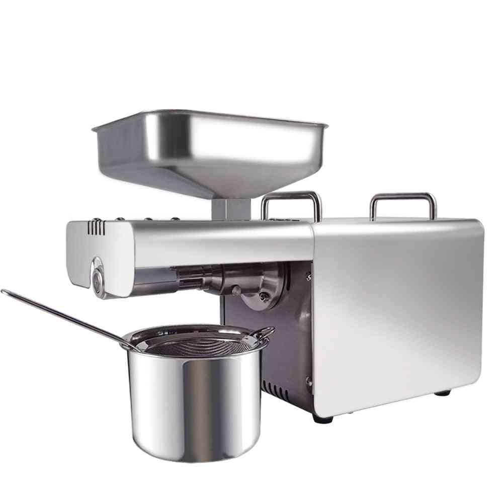 Mini Oil Cold, Press Extractor With Automatic Temperature Control Machine