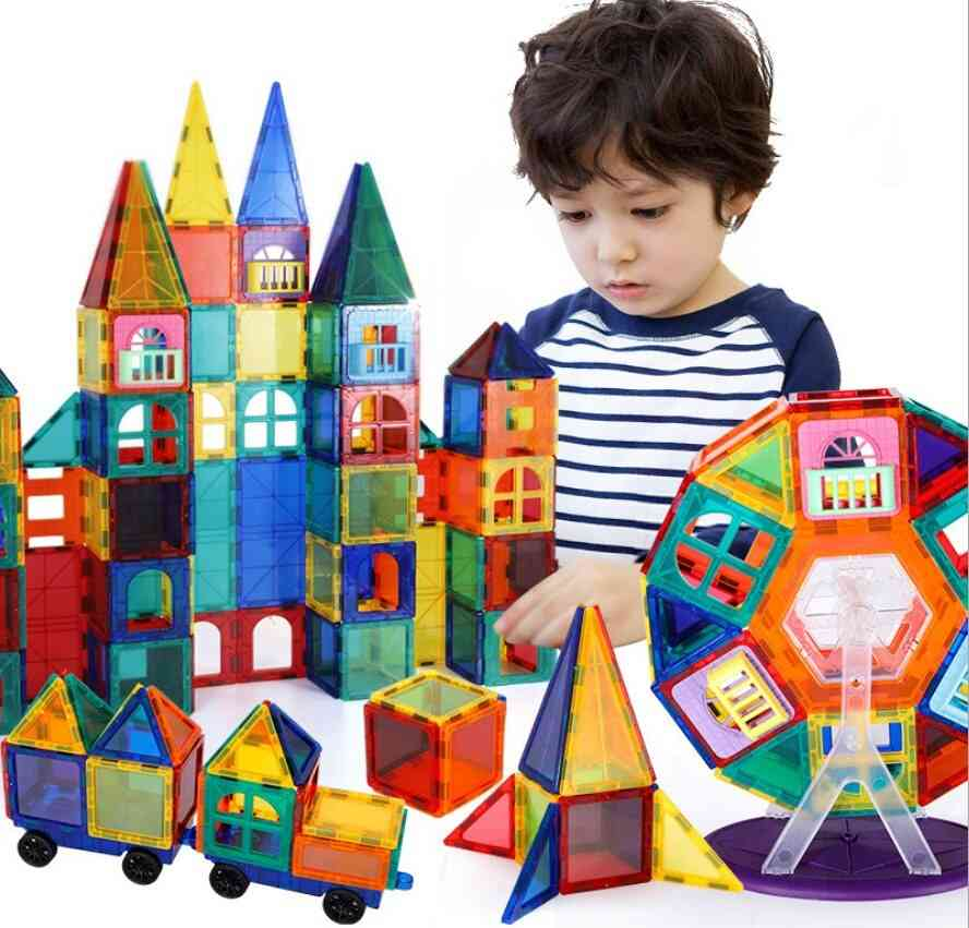 Model & Building Toy Plastic Magnetic Blocks