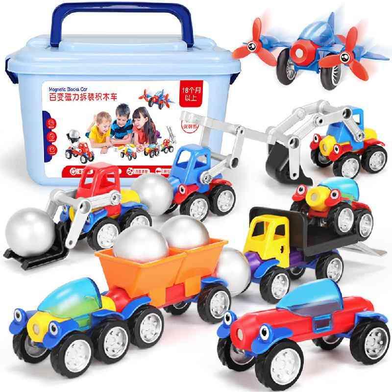 Magnetic Blocks Car Set
