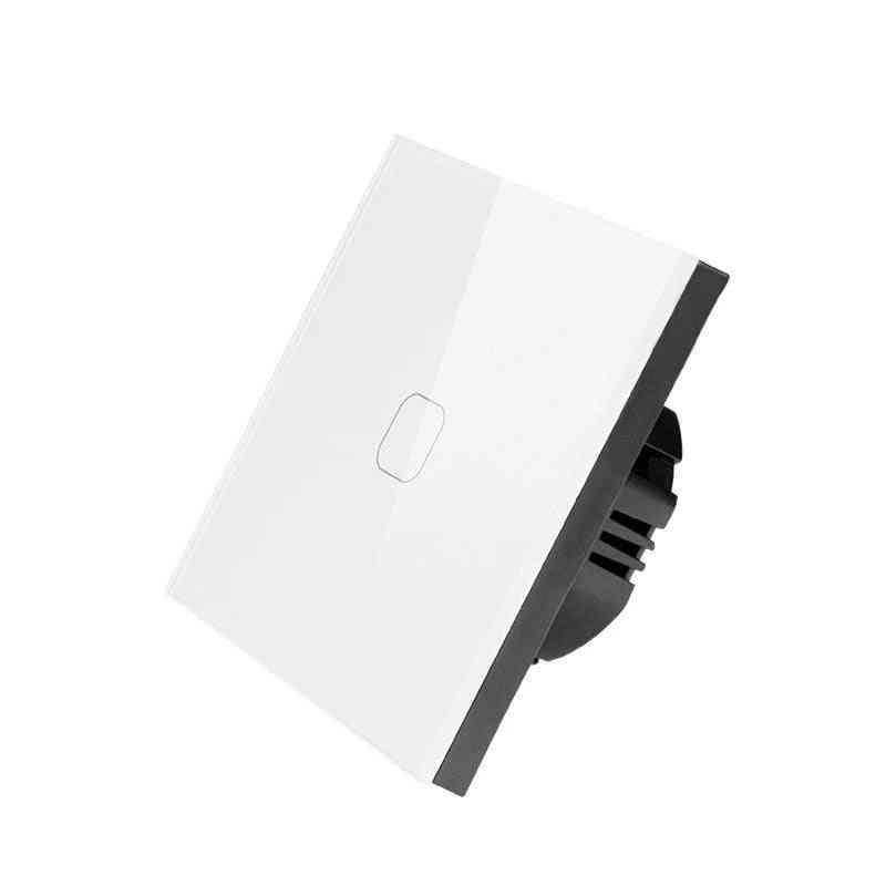 Touch Switch Eu Standard Crystal Glass Panel Light Ac230v Switch 1gang 1 Way Wall Lamp