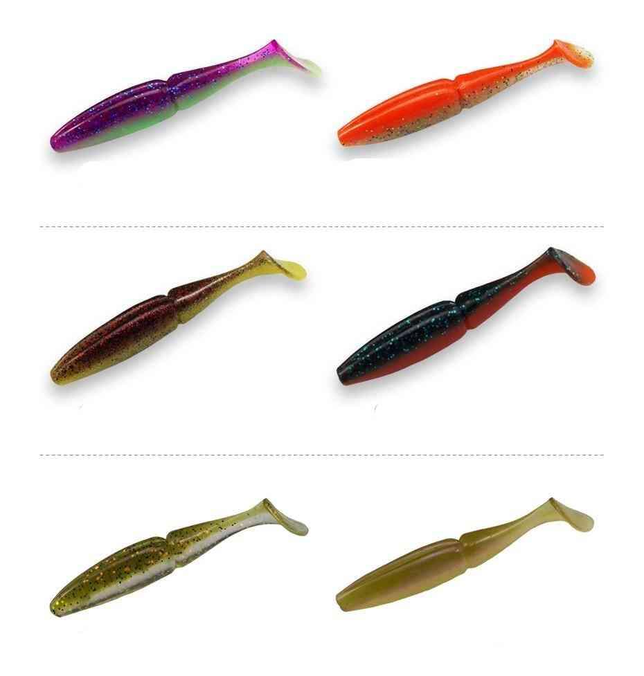 Soft Silicone- Lures Pesca Fishing, Shiner Shad Bait, Wobblers Souple Set-1