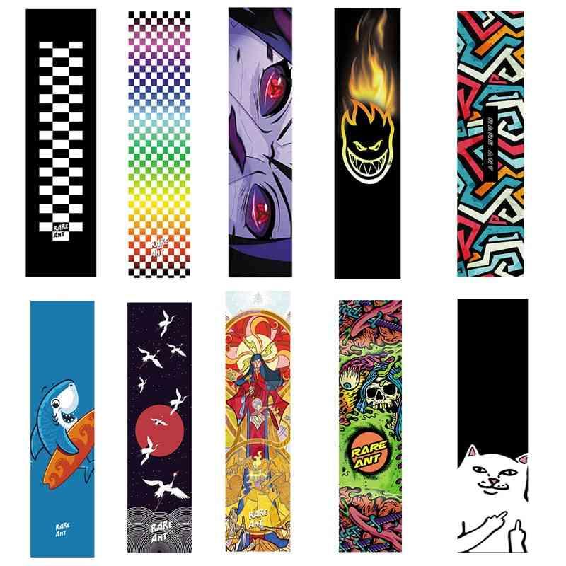Double Rocker Sandpaper Skate Board Deck Sticker