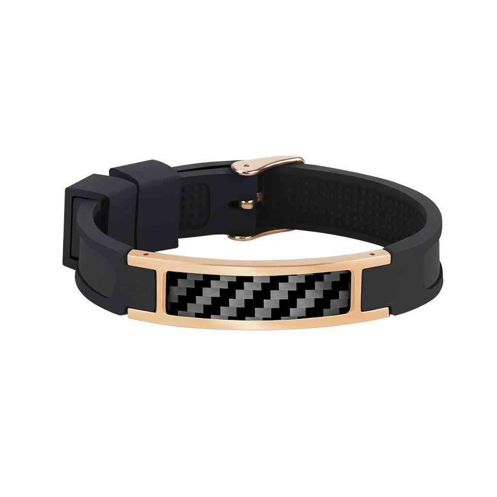 Real Carbon Fiber Bracelet (rose Gold)