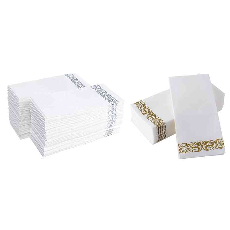Disposable Hand Towels Paper Napkin, Soft And Absorbent