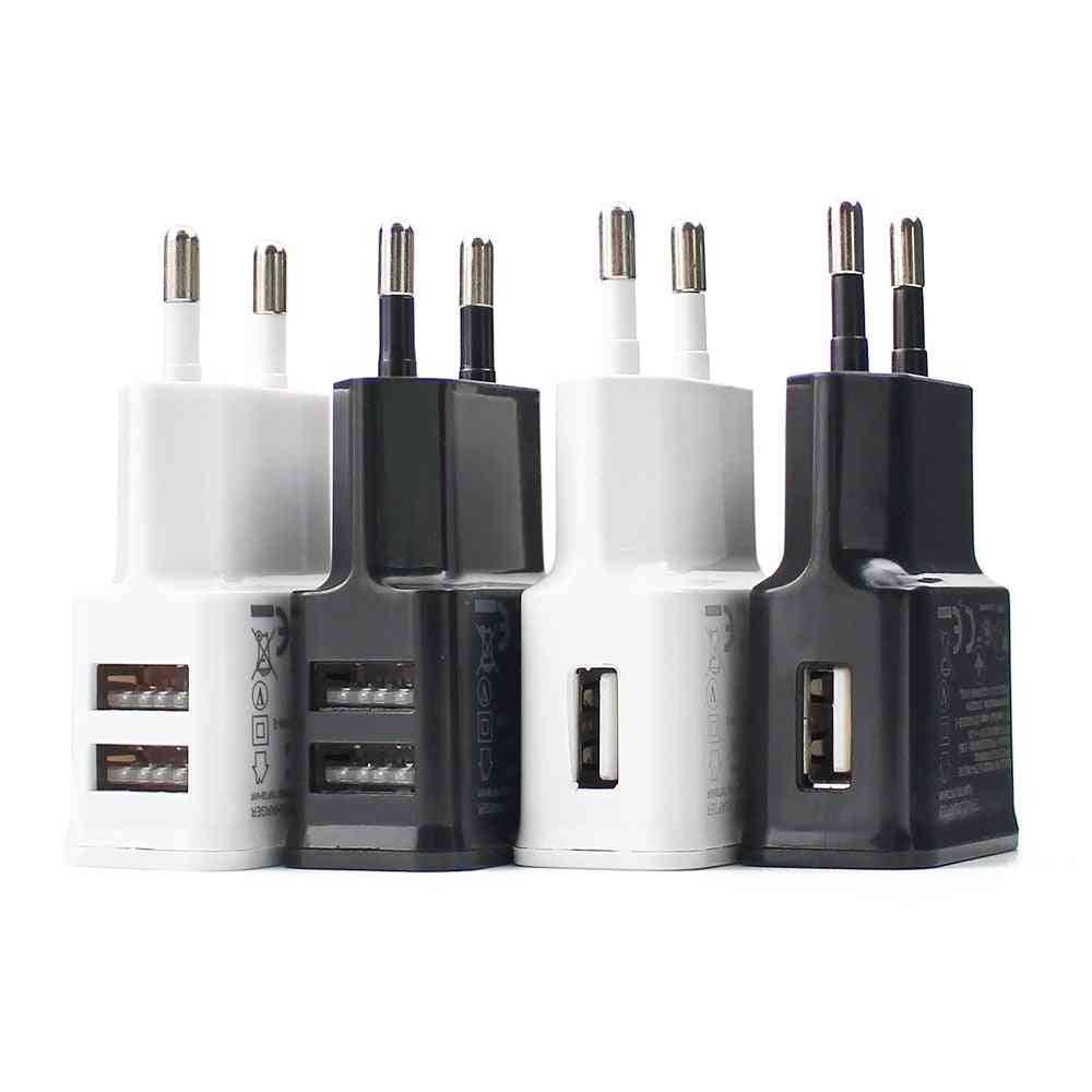 Eu Plug Usb Quick 5v 2a For Phone Adapter For Samsung I-phone Xiaomi Universal Travel Fast Charger