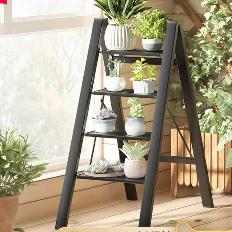 Multifunctional Ultra-thin Folding Ladder, Indoor Thick Aluminum Alloy Rack
