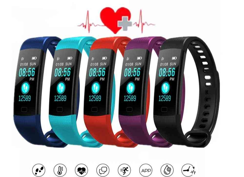 Sport Fitness- Heart Rate Tracker & Blood Pressure Wristband Band, Pedometer Watch