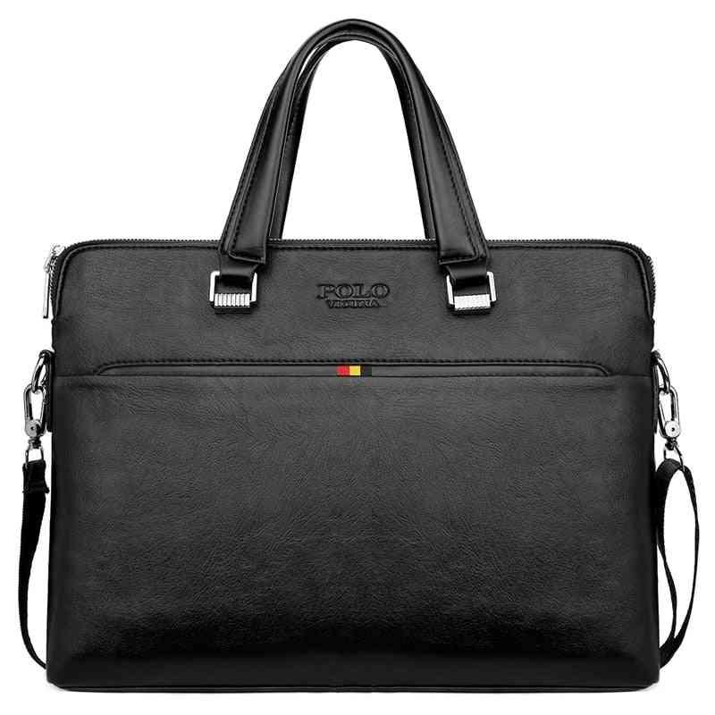 Simple Design Leisure Men's Leather Laptop Handbag/ Briefcase Computer Shoulder Bags