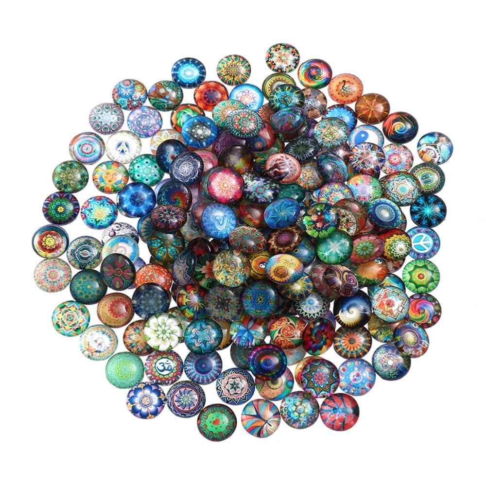 Colorful Mixed-round, Mosaic Tiles, Crafts Glass Mosaic For Jewelry Making