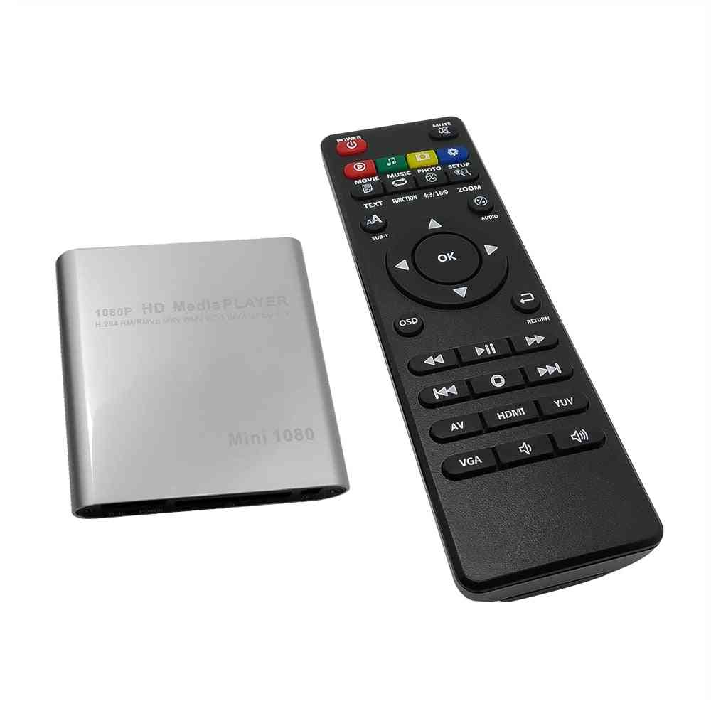 Hd Usb External Media Player With Hdmi Compatible Sd Tv Box