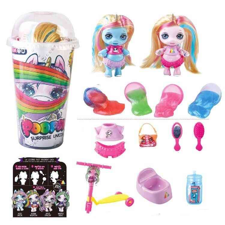 Decompression Squeezing Unicorn Jar Sparkle Splitter Poopsie Slime Soft Relief Stress Squishies Squeeze Kids Toy