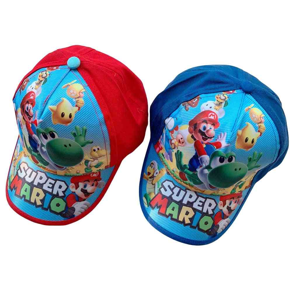 Baseball Cap, Super Mario, Action Figures, Nylon Printing Accessories, Breathable Kid, Toy