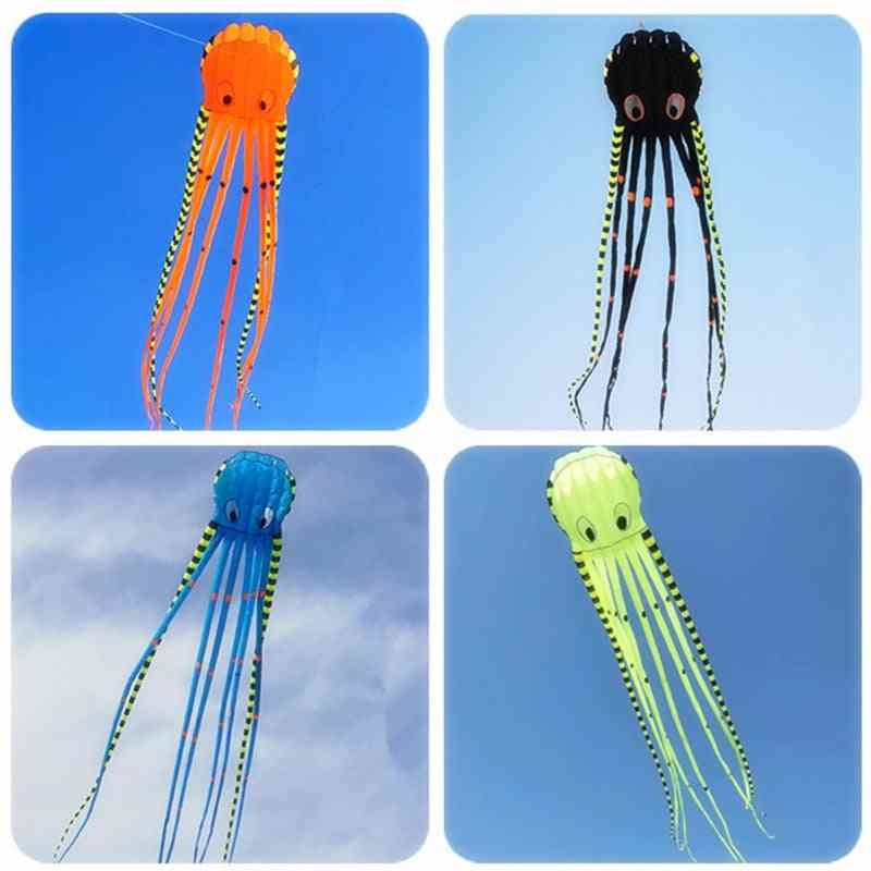 3d Striped Octopus Large Animal Software Inflatable Kite
