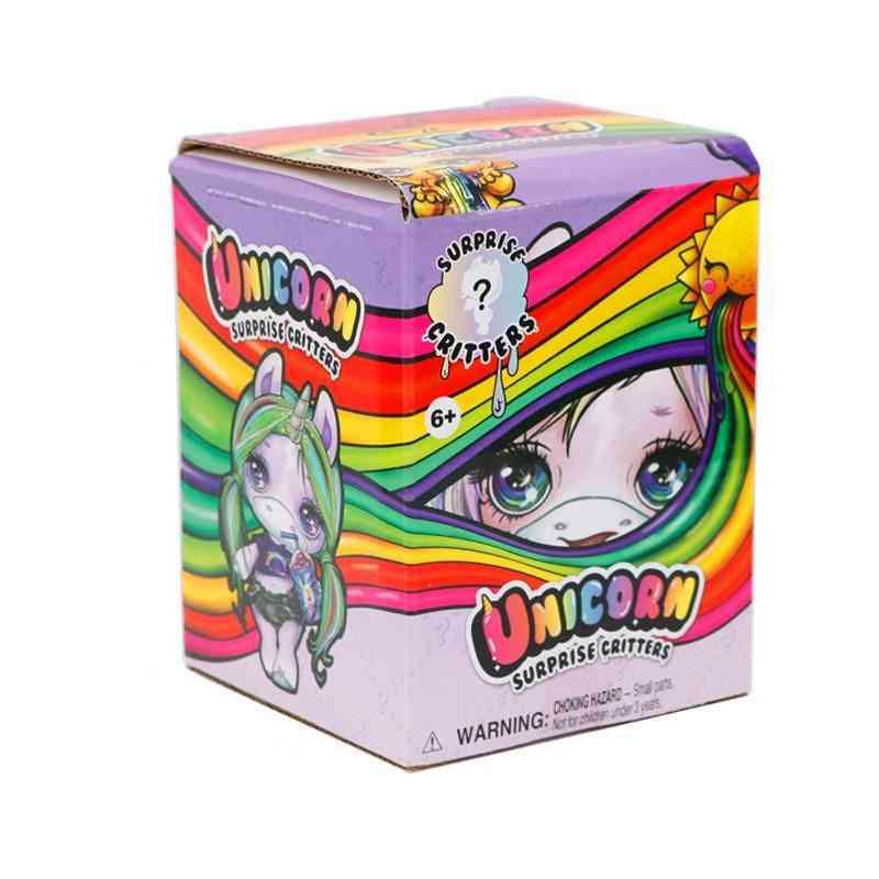 Slime Unicorn's Horn, Rainbow Crystal Clay, Slim Doll, Rocking Girl Toy