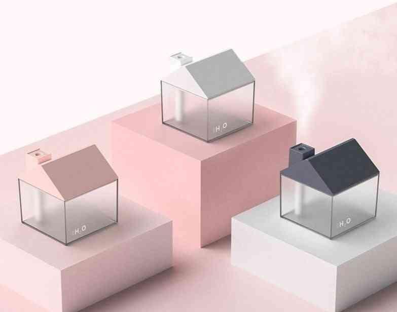 Creative Small House Humidifier Usb Sprayer 250ml Home Bedroom Office Desk Moisturizing