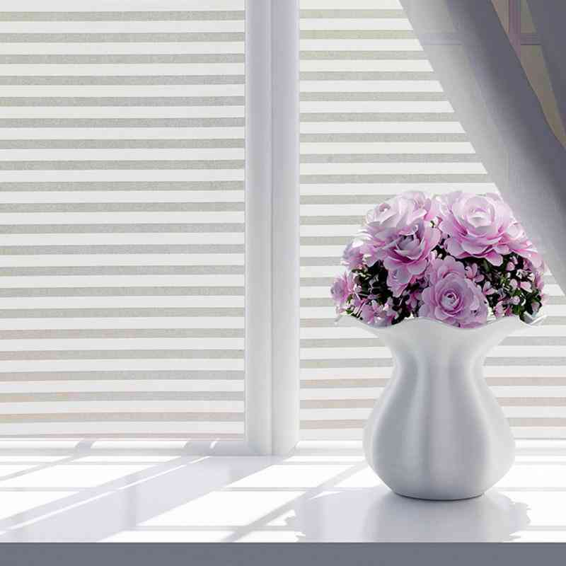 Self-adhesive Window Film Frosted Stripe Glass, Sliding Door, Bath Shutters, Window Stickers