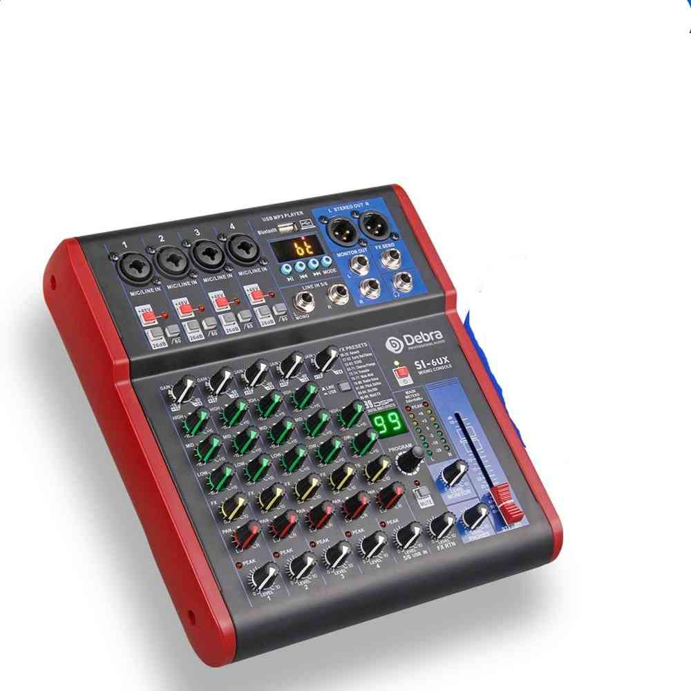 Debra Pro 6 Channel Usb Mixer Audio With 99 Dsp Digital Effects