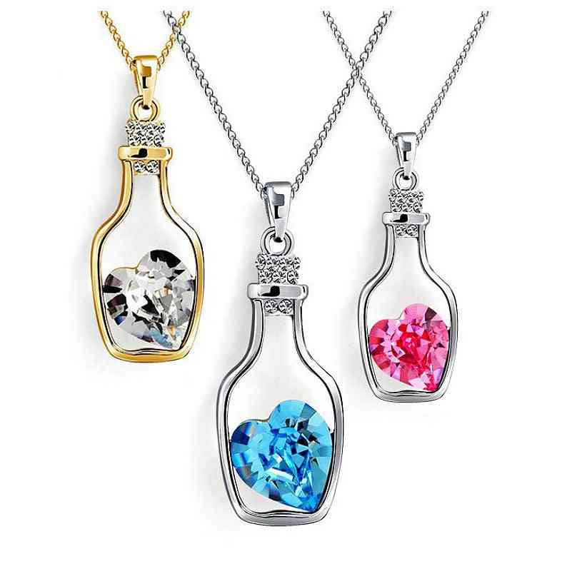 Crystal Vase Necklace Makeup Toy, Princess Crown, Beauty, Makeup Play Games, Jewelry Accessories