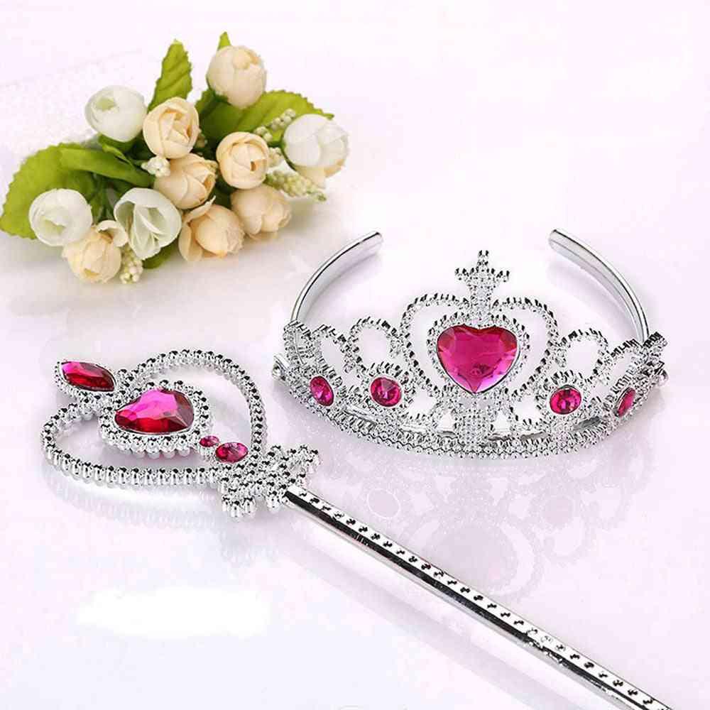 Princess Accessories, Jewelry Tiara +  Magic Wands, Girl Party, Festival Headwear