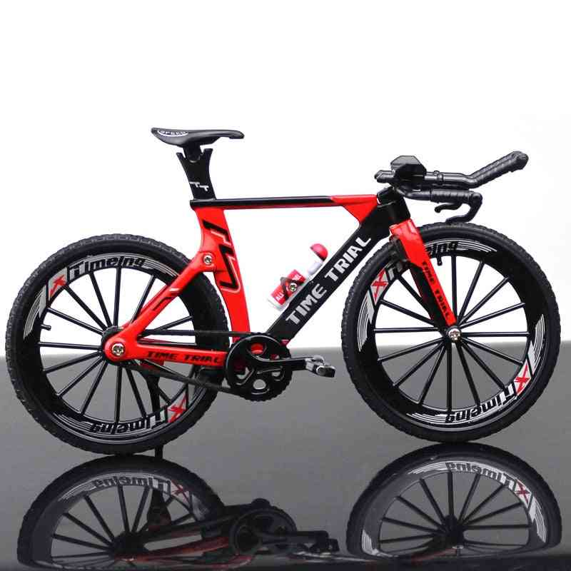 Alloy Model Bicycle, Diecast Metal Finger Mountain Bike, Racing Simulation, Adult Collection For