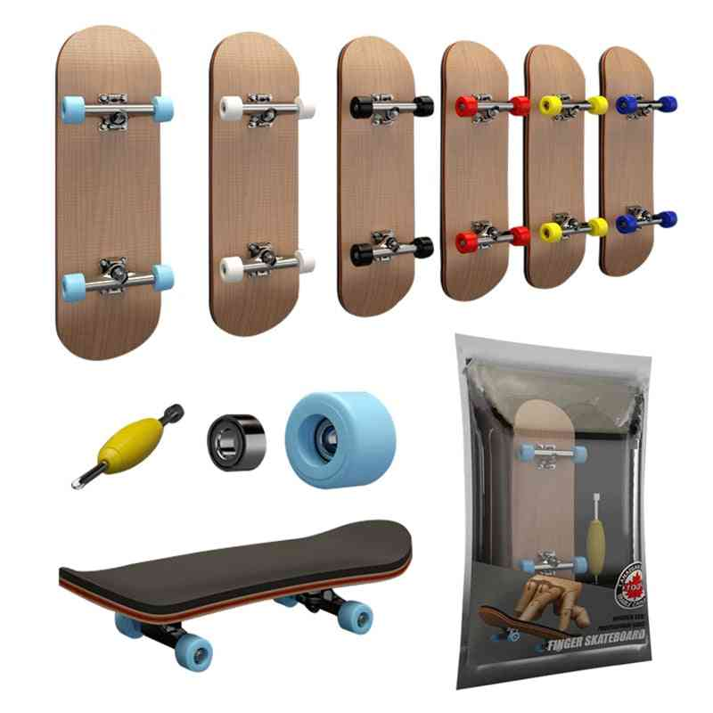 Finger Skateboard With Bearings, Wooden Fingerboard Toy,  Professional Stents, Novelty