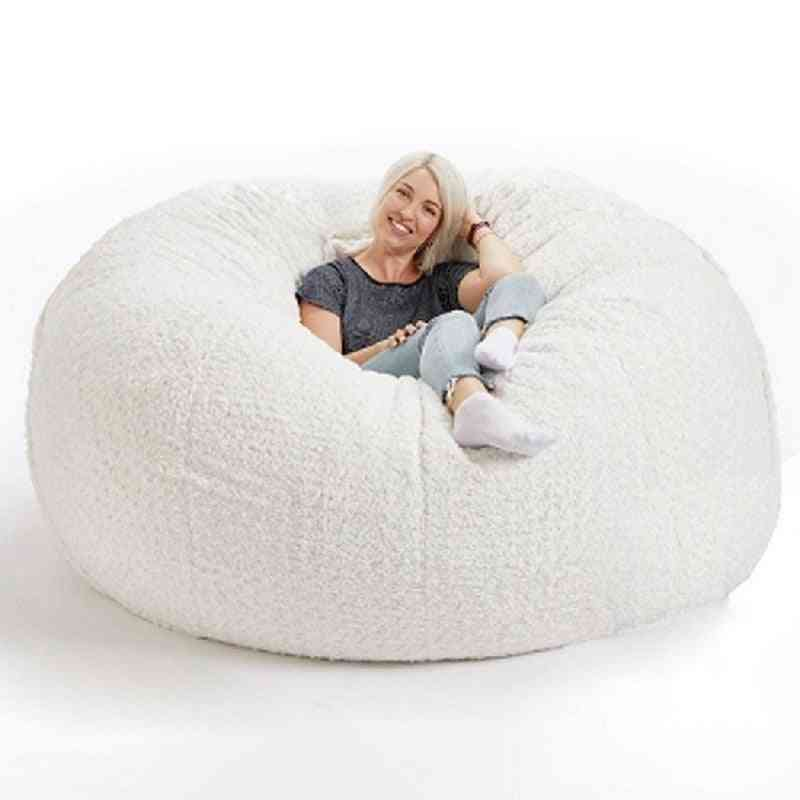 Soft Fluffy Beanbag Cover - Large Lazy Sofa Seat Cover