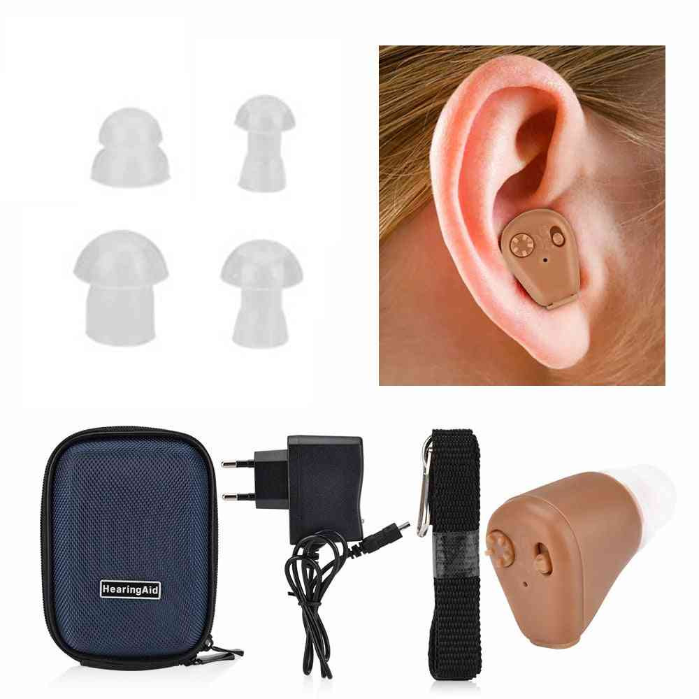 Mini Hearing Aids Rechargeable For Deafness Digital Invisible Cic Sound Amplifier