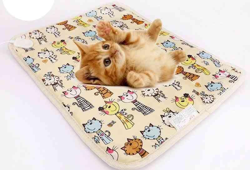 Cat Dog Electric Heating Pet Pad, Heater Mat, Bed, Body Winter Warmer Carpet