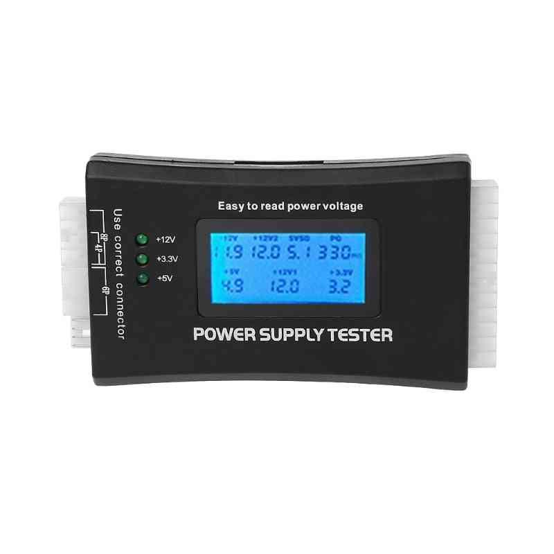 20/24 Pin- 4-psu Atx/ Btx/ Itx ,sata Hdd, Lcd Pc Computer Power Supply Tester