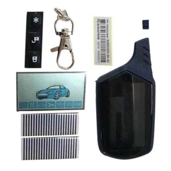 A91 Lcd Display + Zebra Paper + Lcd Keychain Body Case, Remote Control Two Way Car Alarm System