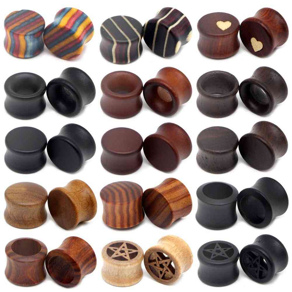 Earrings Stretcher- Wood Expander, Plugs And Tunnels Gauge