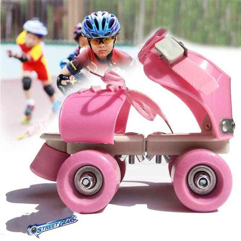 Adjustable Size Roller Skates, Double Row, 4 Wheels Skating Shoes, Sliding Slalom, Inline Kids, Sneakers