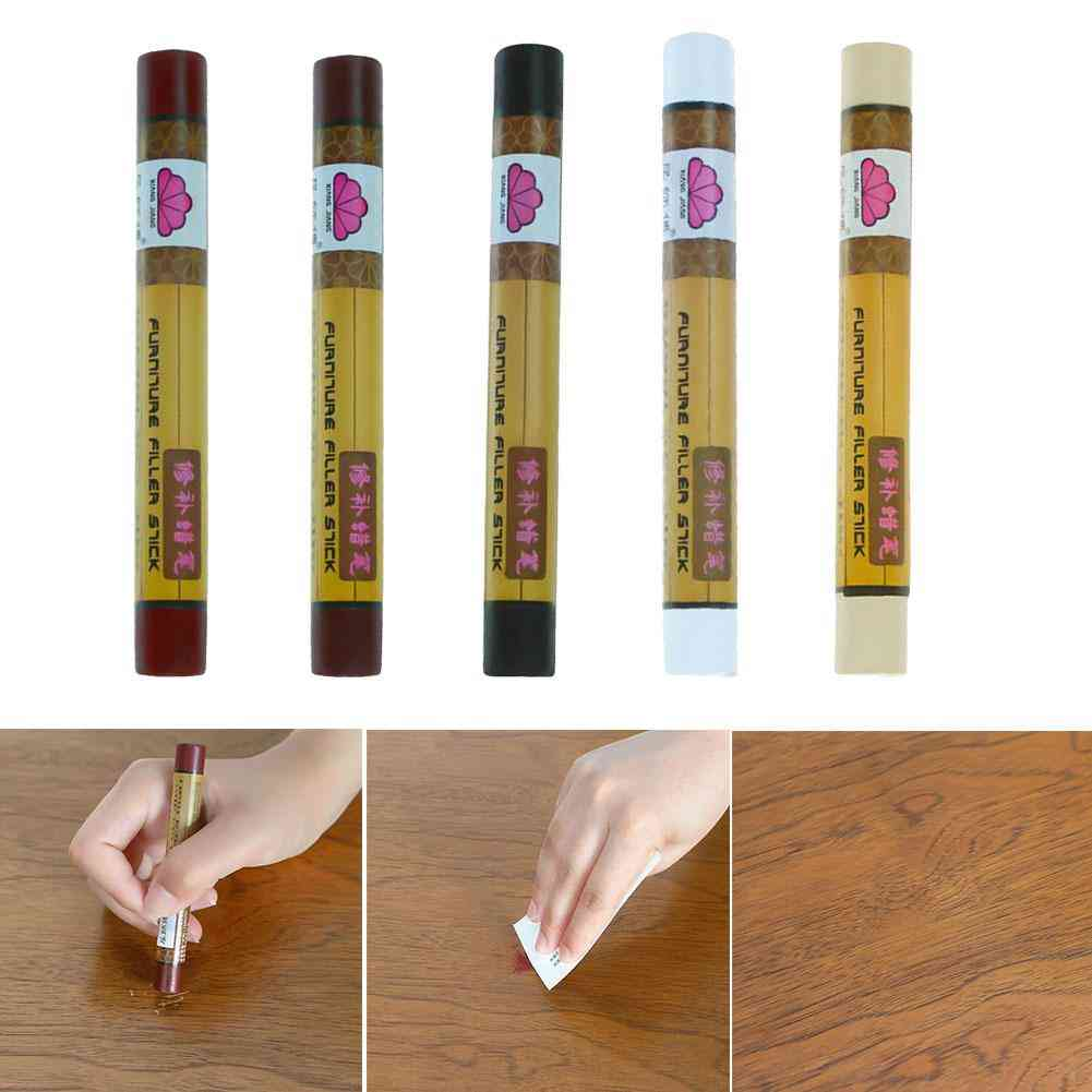 Furniture Marker, Stains Scratches Repair, Crayon Wax, Stick Restorer For Wooden Floors Stairs