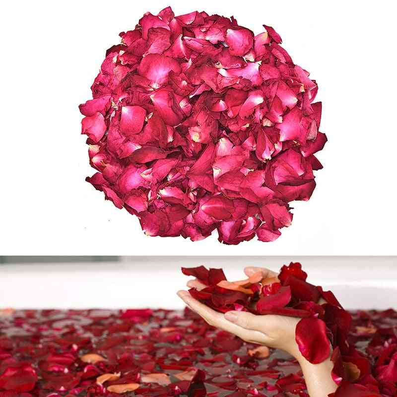 Dried Rose Petals Natural Dry Flower Fragrant Bath Spa Shower Tool