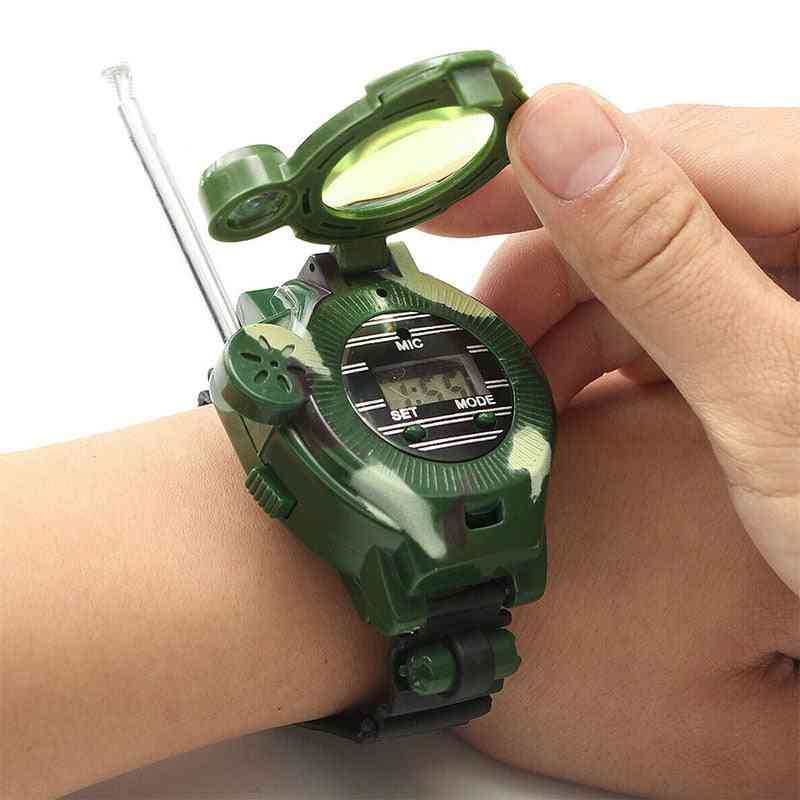 2pcs Walkie Talkies Watches For Kids, 7 In 1 Camouflage 2 Way Radios