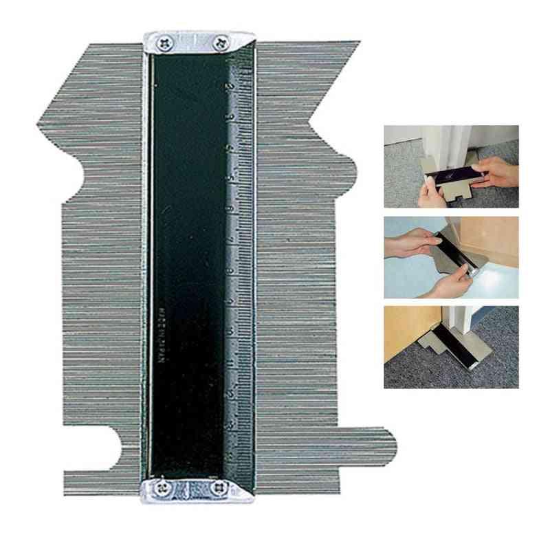 Deep Decorating Template Tiling Steel Profile Contour Gauge