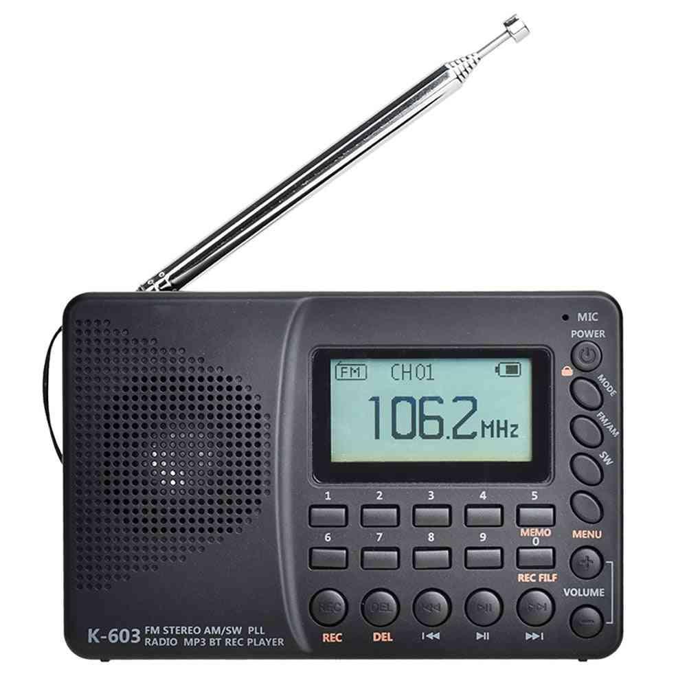 Fm Full Band Radio Bluetooth (black)