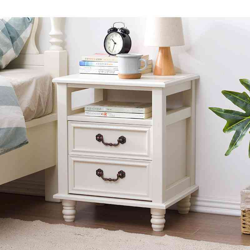 Solid Wood- European And American, Bedside Cabinet