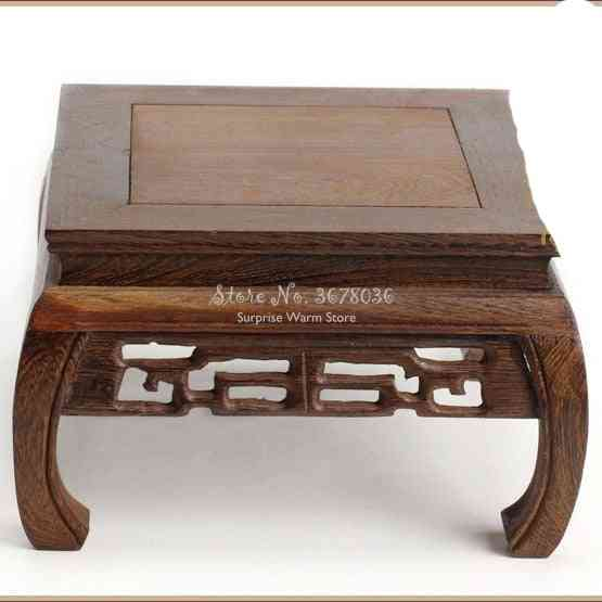 Rosewood Carving Decoration Base Solid Wood Tea Table