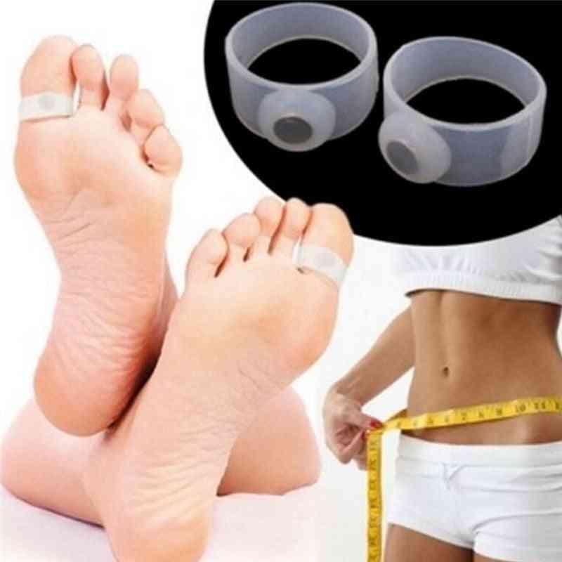 Slimming Lose Weight, Care Silicone Magnetic, Massage Foot, Toe Rings Tool