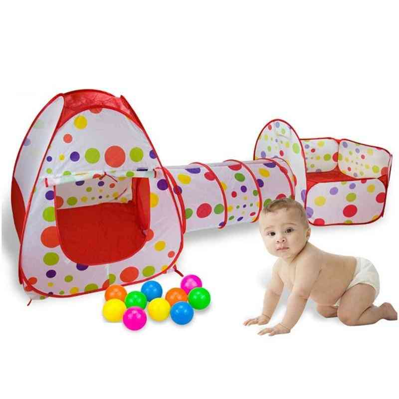 Foldable Tunnel Tent, Play Pool, Ocean Balls