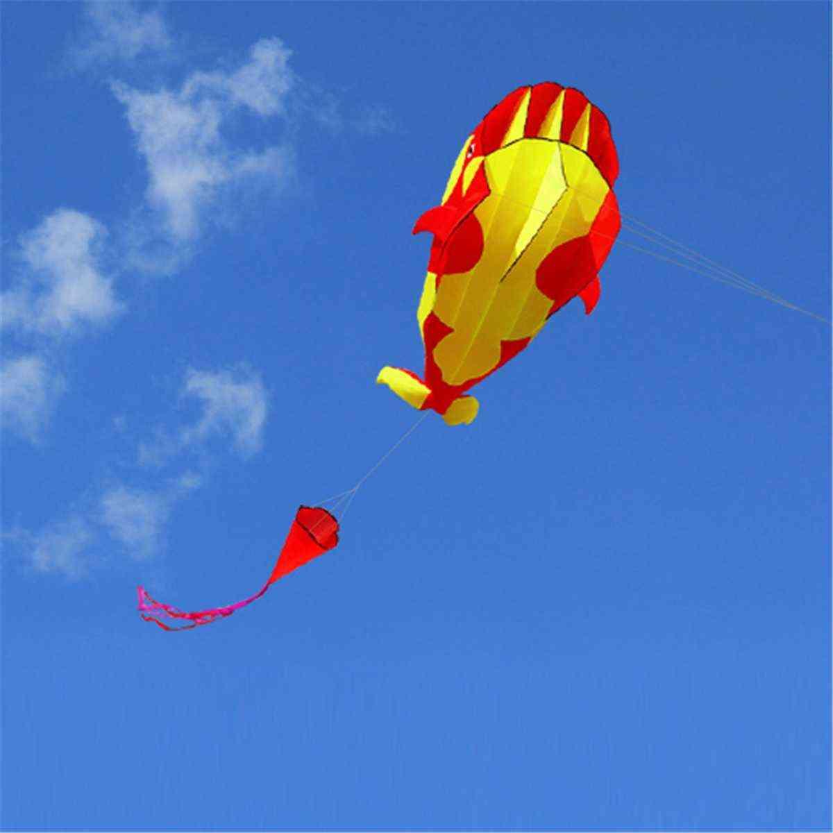 3d 215cm Dolphin Soft Kite Nylon Fabric Kite Line Animated Kites Fishing Inflatable Kite Toy