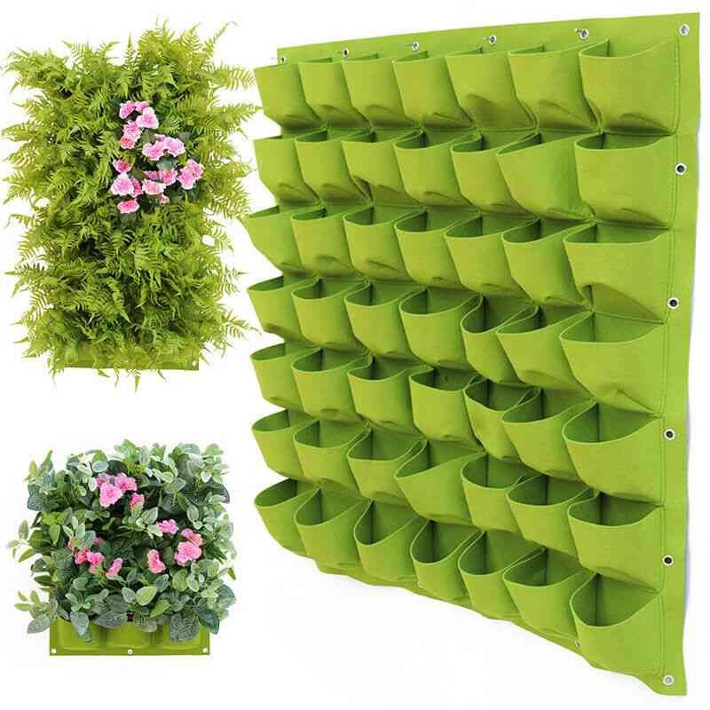 Garden Wall Hanging, Planting Green Plant, Grow Vertical Vegetable Bags