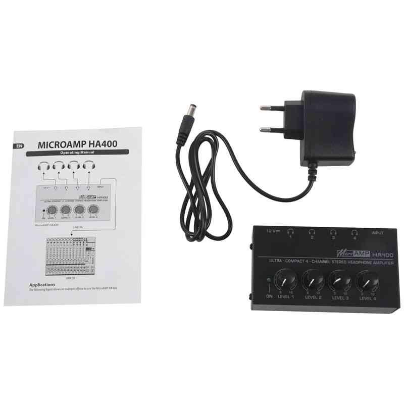 Eu Plug  Mini O Stereo Headphone Amplifier (black)