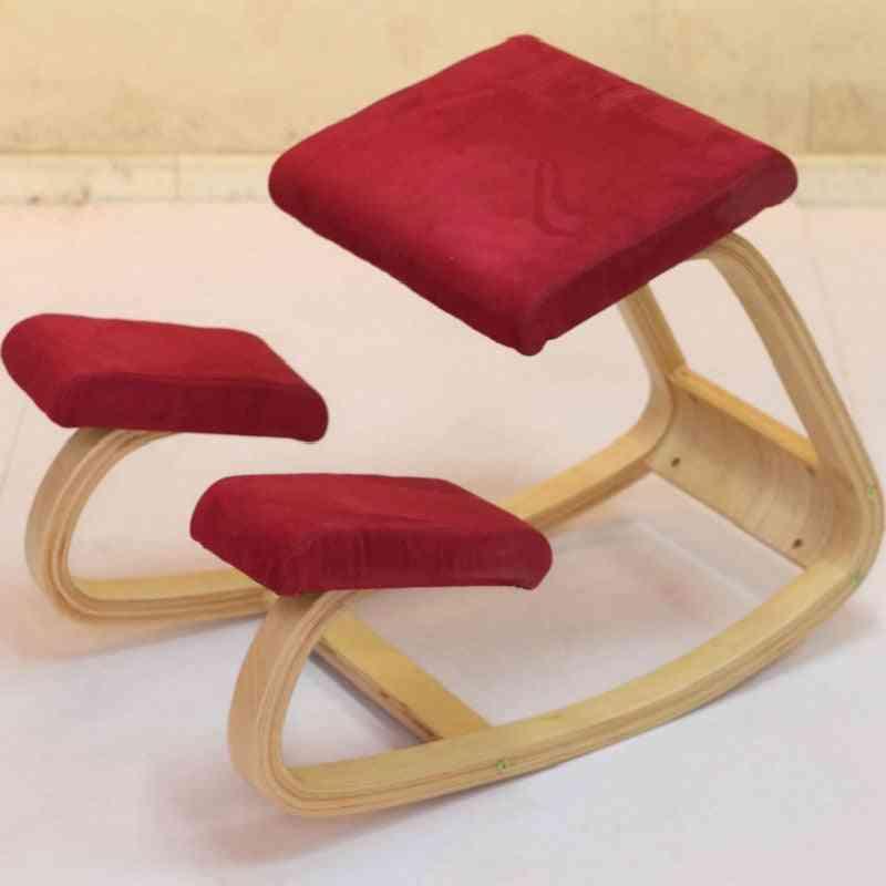 Anti-myopia Wooden Kneeling, Computer Posture, Design Stool Chair